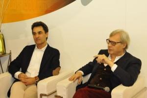 Vittorio Sgarbi, curatore della mostra, e Moreno Pieroni, assessore della alla cultura e al turismo